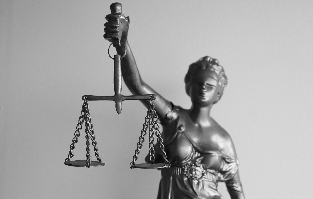 Statue of woman with the scales of justice