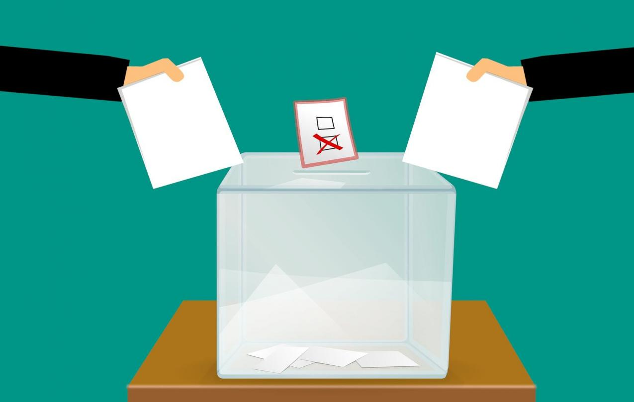 Drawing of an election box